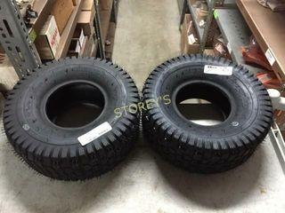 2 New lawn Mower Tires   15 x 6 x 6