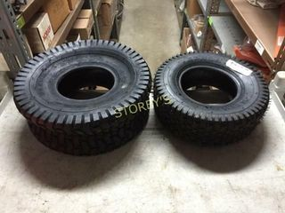 2 New Tires   15 x 6   13 5 x 6