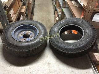 2 Used Trailer Tires   480 x 8  1 on Rim