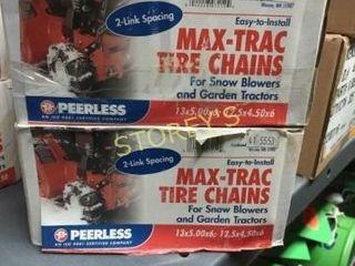 2 New Max Trac Tire Chains   13 x 5 x 6