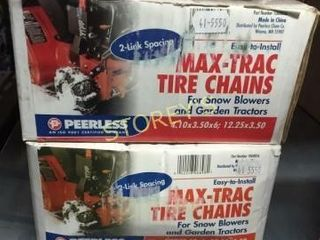 2 New Max Trac Tire Chains   4 10 x 3 5 x 6