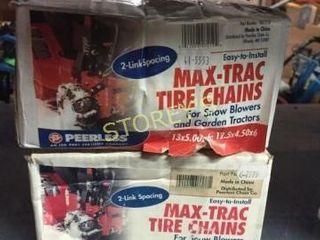 2 New Max Trac Tire Chains   Asst