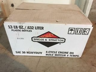 12 Bottles of Briggs   Stratton 4 Cycle Engine Oil