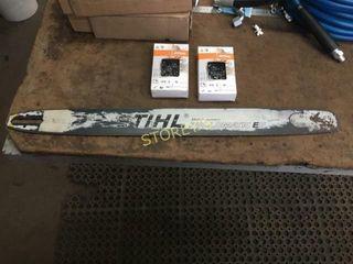2 NEW Stihl 28  Chain Saw Chains   28  Bar