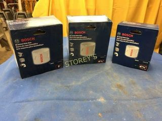 3 NEW Bosch Hole Saws