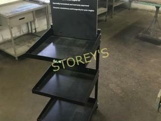 Metal Mobile 3 Tier Display   18 x 18 x 35