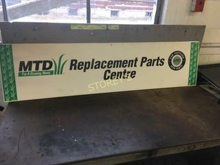 Replacement Parts Tin Sign   48 x 12