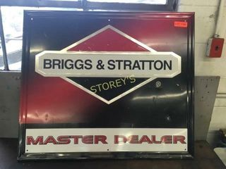 Briggs   Stratton Metal Sign   35 x 30