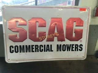 SCAG Commercial Movers Tin Sign   36 x 24