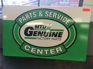 MTD Genuine Parts Tin Sign   36 x 22