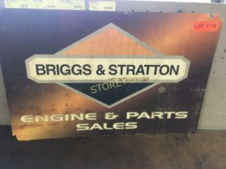 Briggs   Stratton Plastic Sign   23 x 15