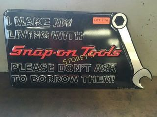 Snap On Tools Tin Sign   24 x 13