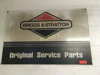 Briggs  Stratton Tin Sign   36 x 24