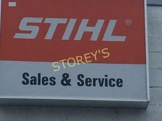 Stihl Sales   Service Illuminated Style Sign
