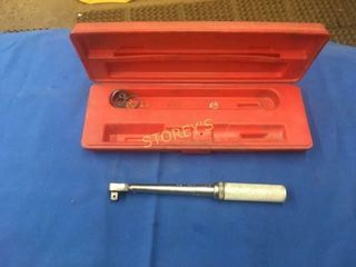 Snap On 30 200  lbs 3 8  Torque Wrench w  Case
