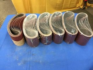 6 Rolls of NEW Sanding Belts   Asst  Grits