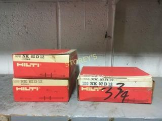 3 Boxes of Hilti NK 82D12 Pins   3 3 4