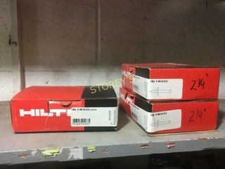 3 Boxes of Hilti NK 54S12 Pins   2 1 4