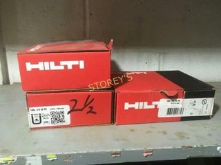 3 Boxes of Hilti XU 62P8 Pins   2 1 2