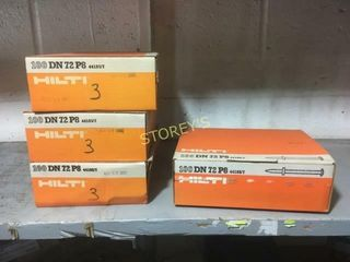 3 Boxes of Hilti DN72P8 Pins   3