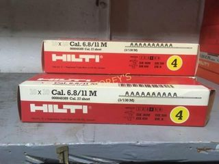 5 Boxes of Hilti 6 8cal 11m Cartridge