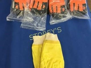 4 New Pair of Stihl Gloves  M    Pair Rubber Glove