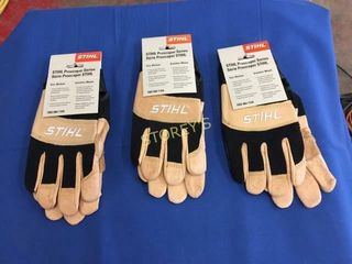 3 New Pair of Stihl Gloves  M