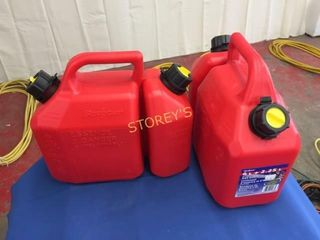 3 New Gas   Oil Cans   6l   2 25l