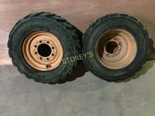 2 Tires w  Rims   10x16 5 NHS