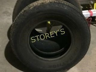 2 Tires   Great tread   ST225 75R15