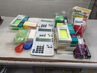 Calculators  labels  Sharpies  White Out  Tape  Et