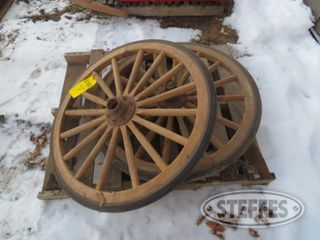 2 wood wagon wheels 1 jpg