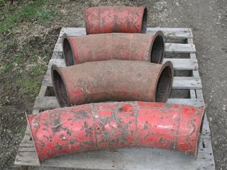 UNKNOWN CURVED BlOWER PIPES  X4  114