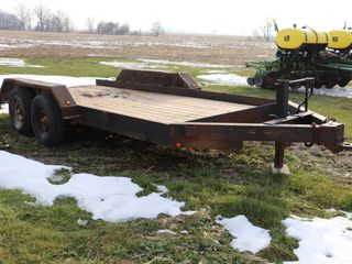 UNKNOWN TANDEM AXlE 16  FlATBED TRAIlER 145