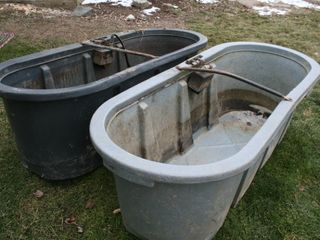WATER TROUGHS 2  150 GAllION WATER TROUGHS WITH F