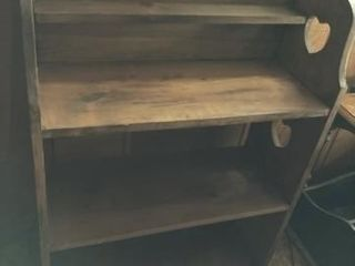 Bookcase  table on casters