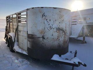 Hart bumper pull stock trailer