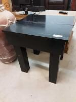 black wood table 22 25in x 23 75in