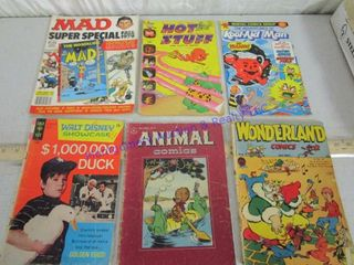 6 COMIC BOOKS