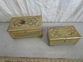 2 METAl CHOCOlATE BOXES