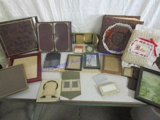 SCRAPBOOKS AND PICTURE FRAMS