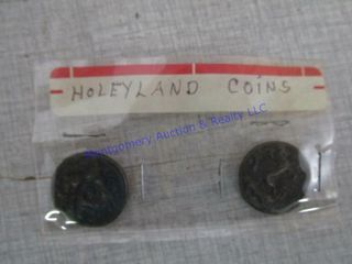 2 HOlY lAND COINS