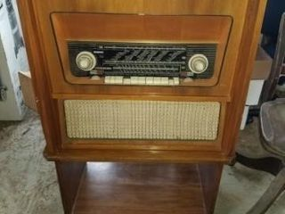 German Stereo Mid Century Radio Phonograph Record