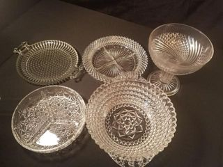 Vintage Glassware lot  5   pcs