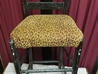 Black leopard stool