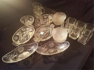 Vintage Glassware lot  21   pcs
