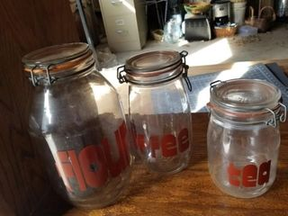 Canister jars Glass