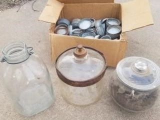galvenized Jar lids  kerosene heating jug