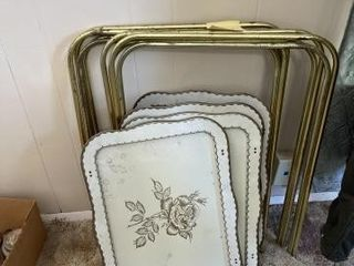 Vintage metal serving trays 4