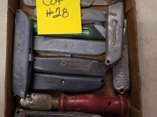 12  box knives  cutters
